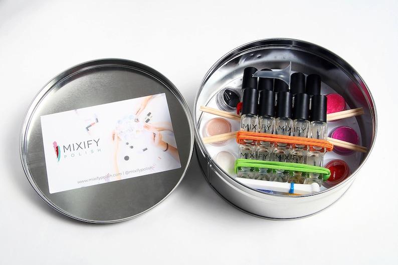 Mixify Polish customize your own signature nail polish kit gift set