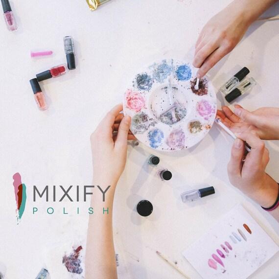 Mixify Polish Create Your Own Nail Polish Kit Gift Set Blue Etsy