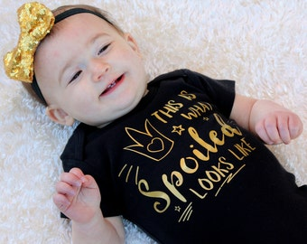 Newborn girl coming home outfit, newborn photo prop - princess little girl shirt baby clothes - Matching Headband (sold Separately)