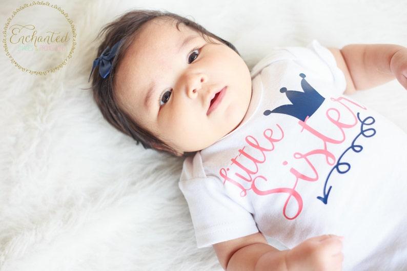 Little sister sibling shirt baby sister take home Baby image 0