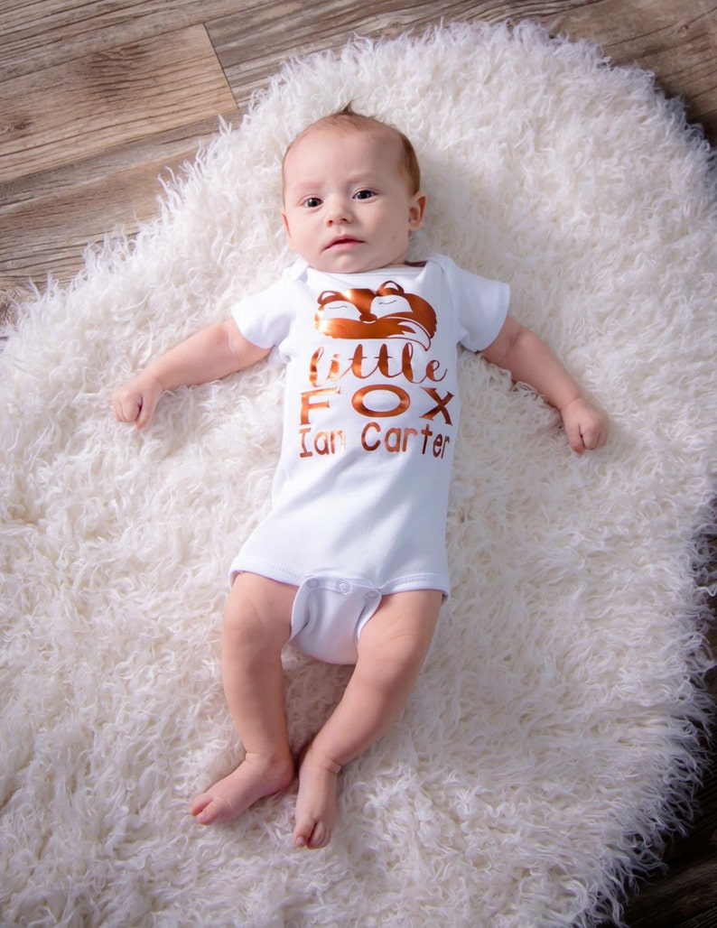 Baby Boy Personalized gown bodysuit  trendy baby shower gift image 0