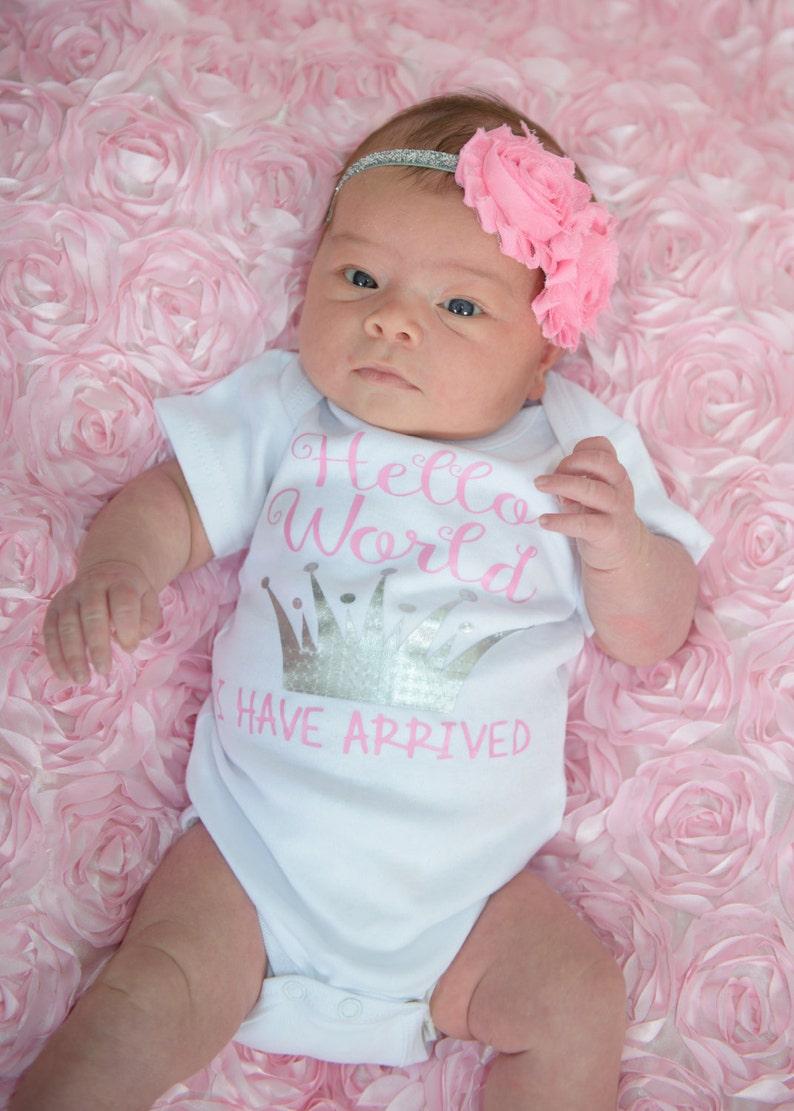 Newborn girl coming home outfit   newborn girl princess  image 0