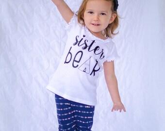 Sister Bear Sibling shirt...New Sibling Shirt...New Baby shirt...Big Sister shirt...Big brother shirt...Sibling shirt...New Sibling Gift