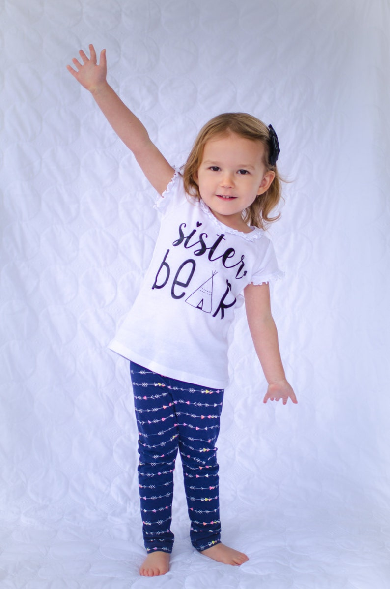 Sister Bear Sibling shirt...New Sibling Shirt...New Baby image 0