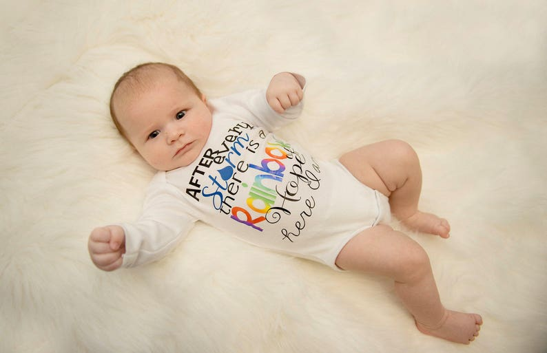 Rainbow Baby Bodysuit After Every Storm Bodysuit Baby Shower image 0