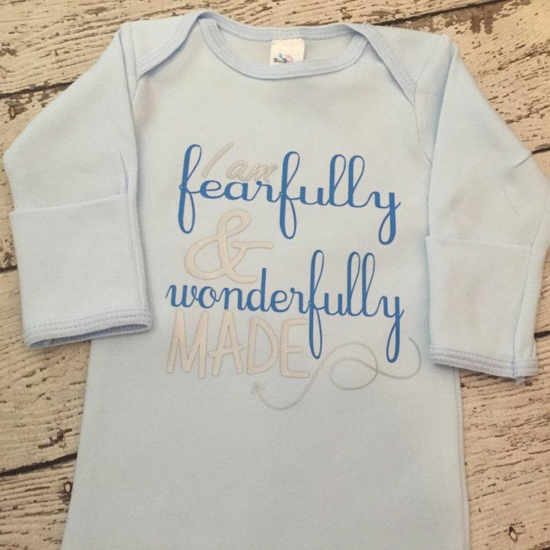 Fearfully and Wonderfully Made newborn boy bodysuit newborn image 0