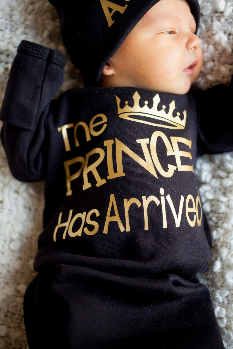 The Prince has Arrived bodysuit  coming home outfit  Baby image 0