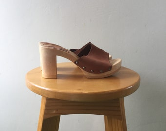 dd5e7905d Candies Size 8 Leather Mules Never Worn