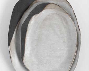 Rustic Pour Over Platter, Serving Platter, Oval Platter, Large Platter, Ceramic Platter