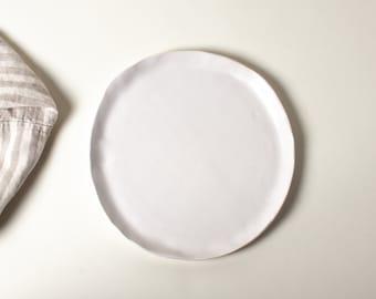 White Matte Salad Plate