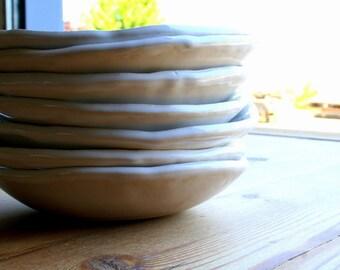 Ceramic Bowl, Soup Bowl, Stoneware Bowl, Ceramic Salad Bowl, White Bowl, Handmade Ceramic Bowls
