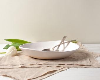 White Matte Pasta Bowl