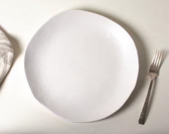 White Matte Dinner Plate