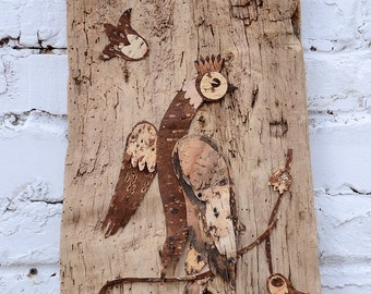 Bark art, Bark decor, Reclaimed wood wall art, Wood wall art, Wood art, Wall art wood, Rustic wall decor, Rustic wood wall decor.