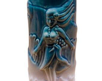 Surfer Girl Tiki Teal and Granite