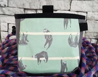 Sloth chalk bag for rock climbing