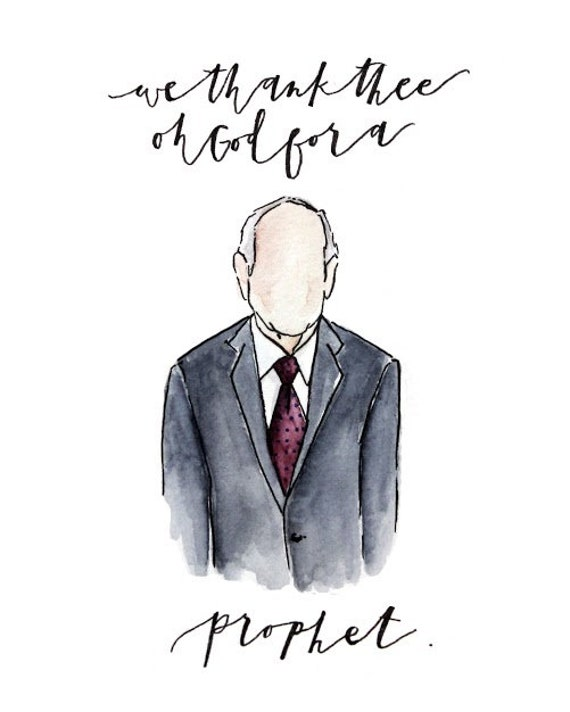 We Thank Thee Oh God For A Prophet Russell M Nelson Lds Etsy