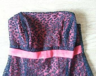 Red and black lace party dress size 8 -10
