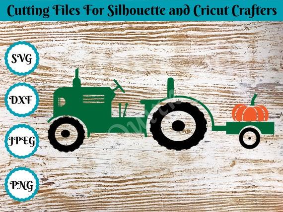 Instant files download svg png Cut file Print or more dxf Tractor pumpkin svg Tractor Pumpkin Digital clipart for Design