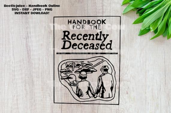 Tim Burton Beetlejuice Svg Handbook For The Recently Etsy