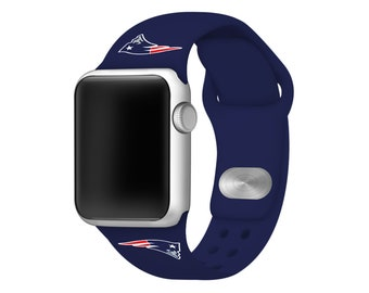 New England Patriots Silicone Sport Band Compatible With The Apple Watch -  Officially Licensed NFL Watch Band f1d2b41ed