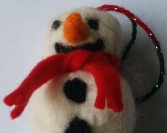 Needlefelt Snowman Christmas Tree Decoration
