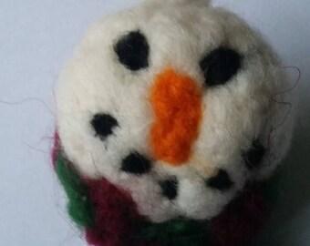 Needlefelt Snowman Bauble