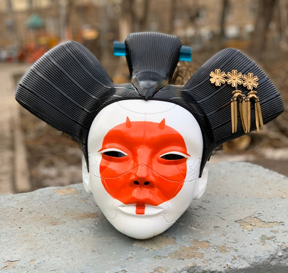 Ghost From The Shell Geisha Mask Etsy