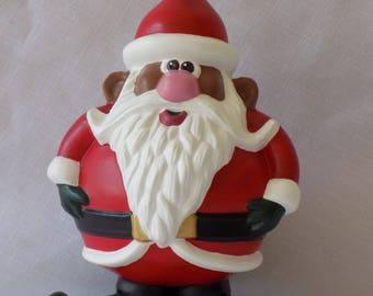 Black Santa, African American Santa, Santa, Ho-Ho-Ho Santa, Ceramic Santa, Santa Figurine
