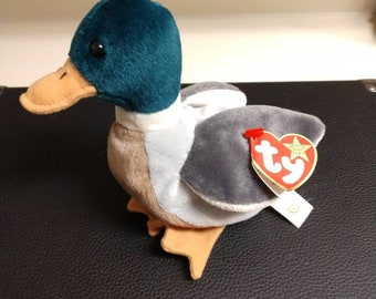 d607036b924 Very rare Ty Jake the Duck Beanie Babies 1997 with multiple tag errors!