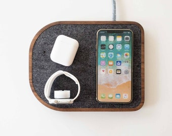 Wireless Charging Fast Charge Docking Station - iPhone Apple Watch Apple AirPods - Options for iPhone, Apple Watch, AirPods- MagSafe Charger
