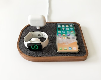 Wireless Charging Docking Station - Options for iPhone, Apple Watch, AirPods, Samsung Galaxy, Galaxy Buds, USB-C, MagSafe Charger
