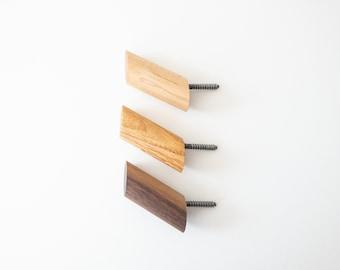Wood Wall Hooks - Simple Wall Storage for Coat Hook, Towel Hook, Mudroom, Bathroom, Garage