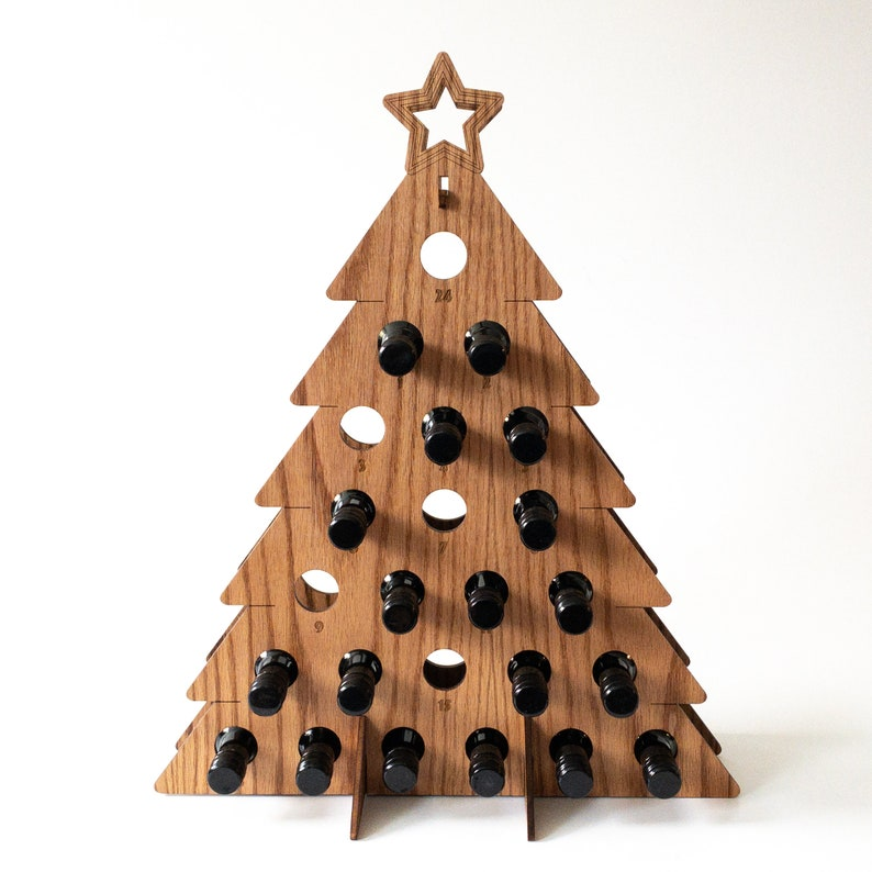 Holiday Tree  Advent Calendar for Adults / Holiday Wine Rack image 0