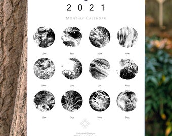 Jewish Holiday Calendar 2021, New Year, New Moons: 2021 Calendar, Personalized Gift, Monthly Calendar, Wall Calendar Months