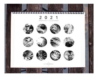 Jewish Holiday Calendar 2021, New Year, New Moons: 2021 Calendar, Personalized Gift, Limited Edition Monthly Hanging Calendar