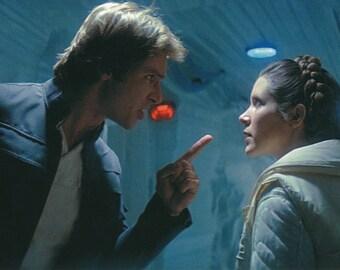 Matted Star Wars Princess Leia & Han Solo Still-Frame Print