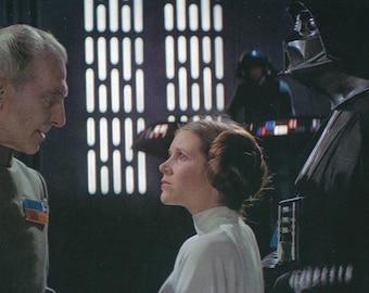 Matted Star Wars Princess Leia & Darth Vader Still-Frame Print
