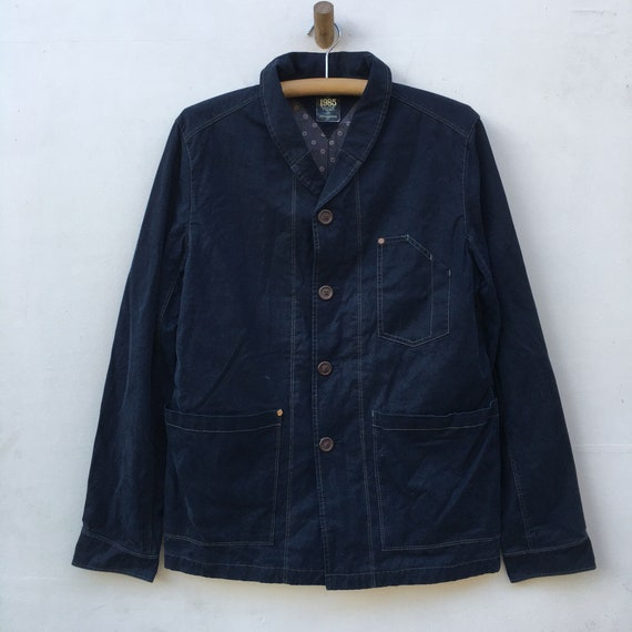 Hilfiger Denim Chore Coat Blazer Workwear Indigo