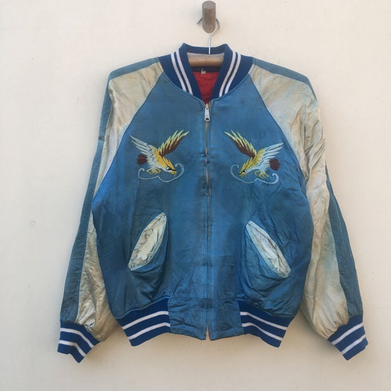 Vintage Sukajan Bomber Souvenir Jacket Japan Craft