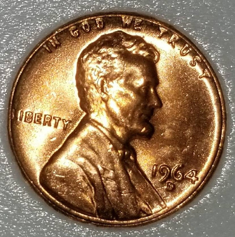 1964 D Lincoln Cent - MS Error Coin - MS Grading - Reverse CUD Error Copper  Coin - Numismatic Coinage - Collection Coins - Combined Shipping