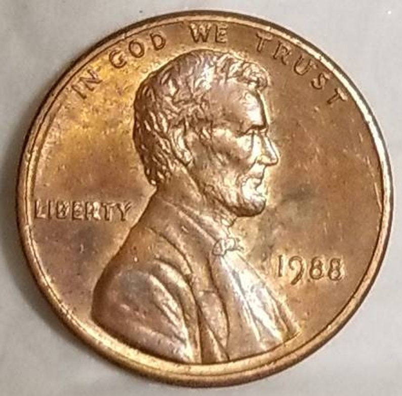 1988 DDO Wide AM Lincoln Penny - Double Ear, Liberty & Date - Sharp Au  Error Coin - US Numismatic Coinage - Collection Coins