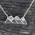 Three Sisters Mountain Sterling Silver Necklace