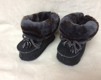 Baby Winter Warm Boot Kleinkind Infant Weiche Socke Booties Schuhe PDH