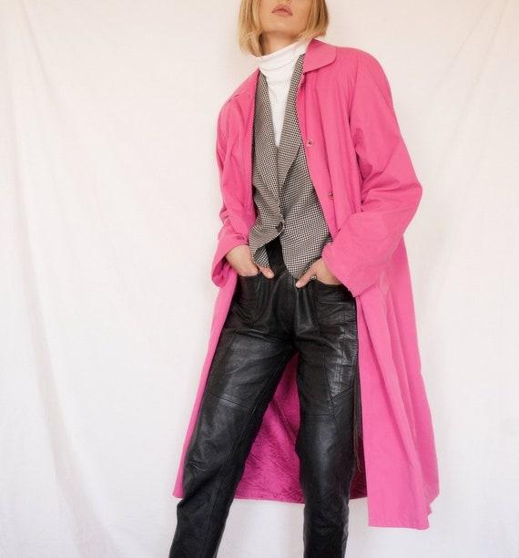 Hot Pink Vintage Jones Trench Coat