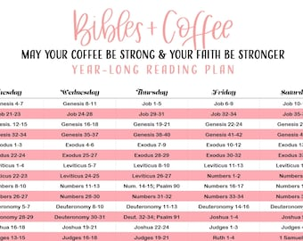 Printable Bible Reading Plan Weekly by Section   Etsy