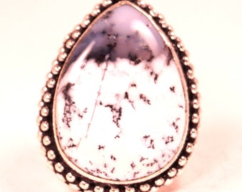 Dendrite Opal Statement Ring Size 8 1/2