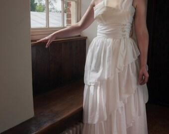 Arabella 1970s Vintage Wedding Dress