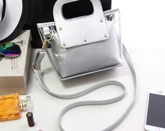 097e5a08bfdb Clear Handbag Silver