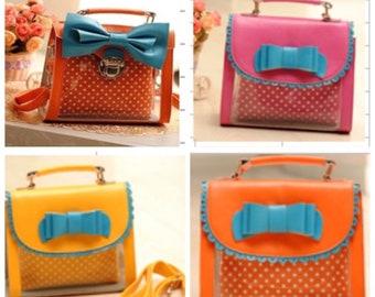 b1e3cf36122a Clear handbag with Bow